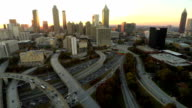 Atlanta Aerial Cityscape Freeway video