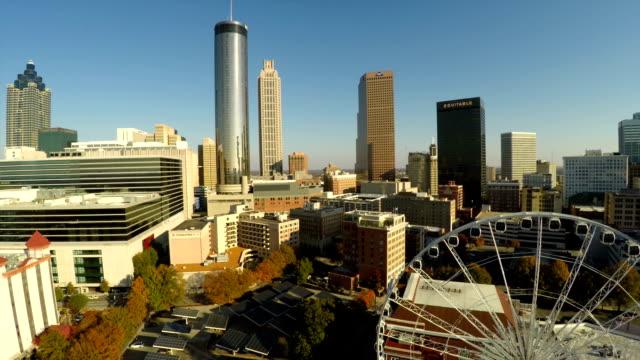 Atlanta Aerial Cityscape Olympic Park video