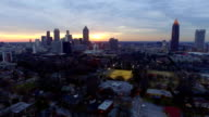 Atlanta Aerial Cityscape Sunset video