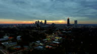 Atlanta Aerial Cityscape Sunset video