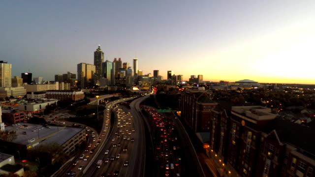 Atlanta Aerial Freeway video