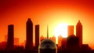 Atlanta Georgia USA America Skyline Sunrise Take Off video