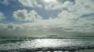 Atlantic Ocean Beach In The Sunlight video