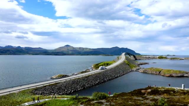 Atlantic Ocean Road Norwegian Construction of the Century video