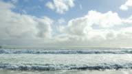 Atlantic Ocean Waves Rolling Onto Beach video