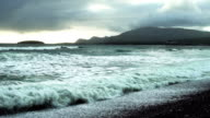Atlantic Ocean Waves Rolling Onto Keel Beach In Ireland video