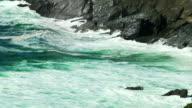 SLO MO Atlantic Waves Breaking At Coumeenoole Bay In Ireland video