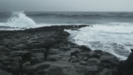Atlantic Waves Breaking At Rocky Shore video