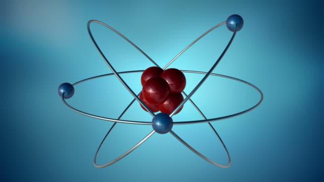 3D Atom Symbol video