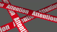Attention Warning Sign + Alpha included video