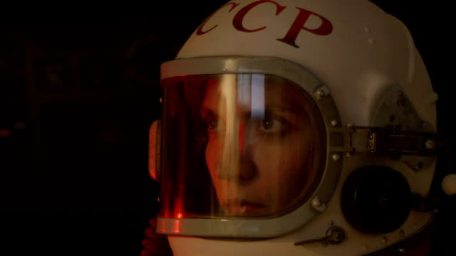 Attentive Female Cosmonaut video