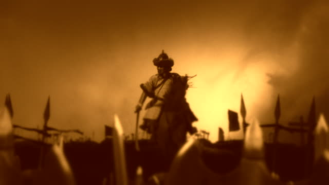 Attila The Hun with His Army Before or After a Battle video