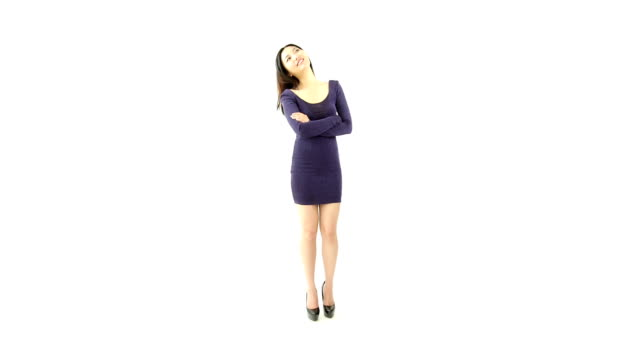 Attractive Asian girl 20s isolated on white video