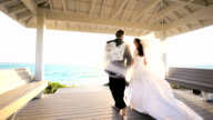 Attractive Couple Sunset Island Wedding video