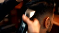 Attractive man at the barbershop video