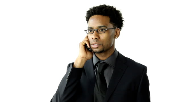 Attractive man isolated on a white background video