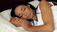 Attractive Sleeping Woman In Bed video