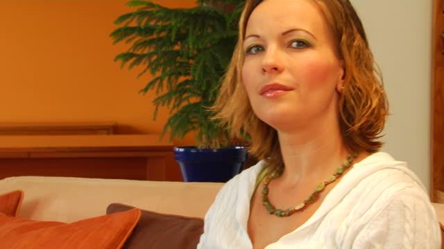Attractive Woman Expresses Desire CU video