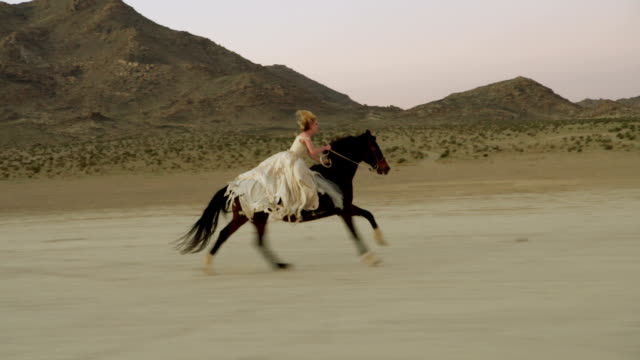 Attractive Woman Riding Horse video