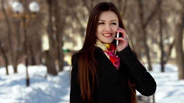 Attractive Woman Talking On the Phone video