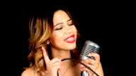 HD: Attractive Young Hispanic Woman Singing video