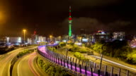 Auckland New Zealand Freeway Time Lapse video