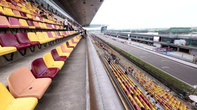 audience in car race venue of shanghai, time lapse. video