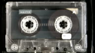 Audio cassette playing video