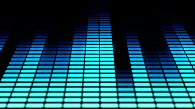 Audio equalizer bars moving. Music control levels. Loopable. Blue.More color options in my portfolio. video