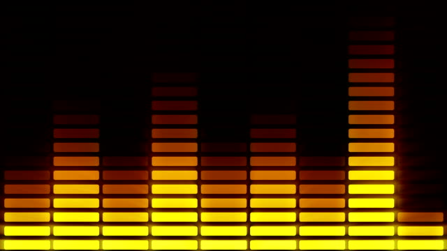 Audio equalizer bars moving. Music control levels. Loopable. Orange.More color options in my portfolio. video
