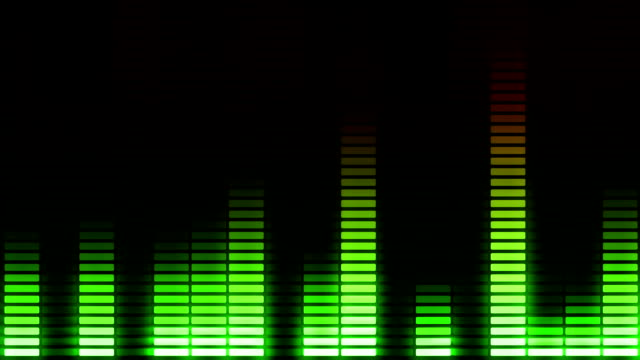 Audio equalizer moving bars. Music control levels. Loopable. Multicolored. video