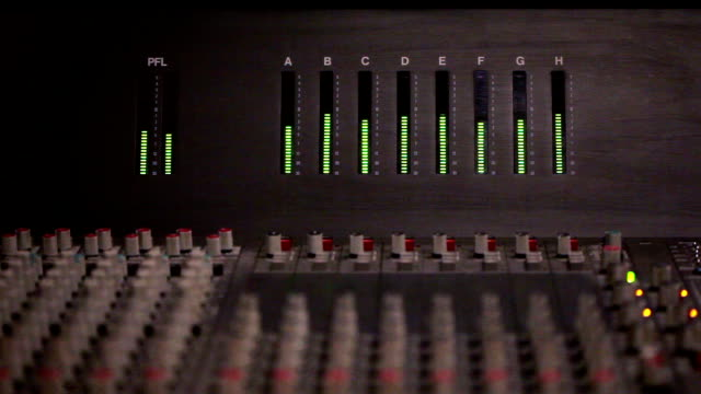 Audio level on a mixing console video