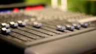 Audio Mixer in Studio - moving faders video