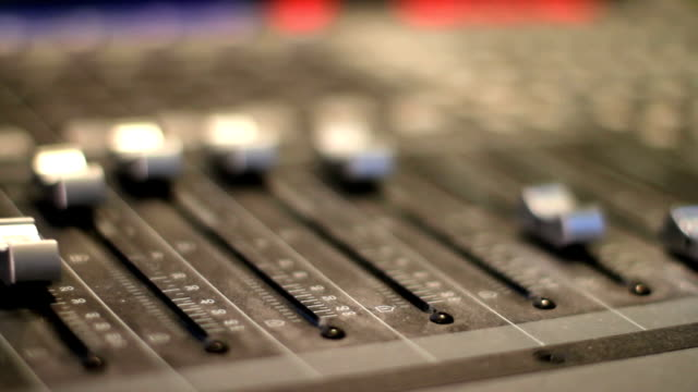 Audio Mixer - Moving Faders video