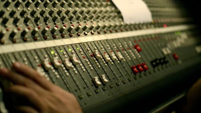 Audio Mixing Board Sliders - HD 1080p footage video