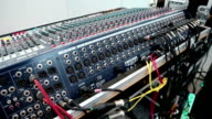 Audio production console sockets video