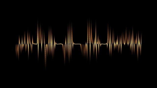 Audio spectrum orange. video