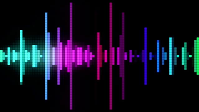 audio spectrum pixel style video