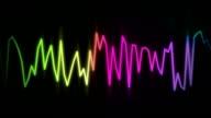 audio wave line color video