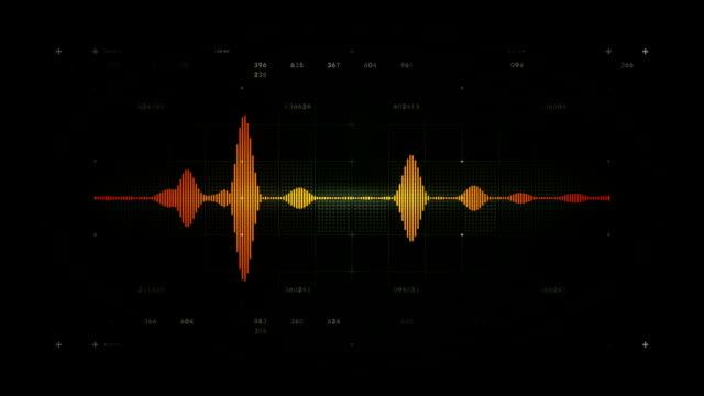 Audio Waveform Mono Black video