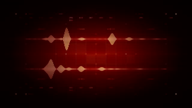Audio Waveform Stereo Red video