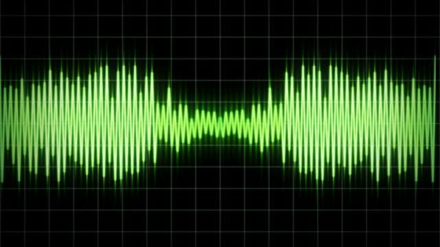 Audio Waveform visualisation video