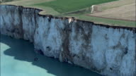 Ault And Cliffs  - Aerial View - Picardie, Somme, Arrondissement d'Abbeville, France video