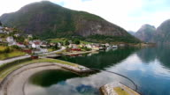 Aurland - aerial footage - video. Drone video
