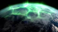 Aurora Borealis (Northern lights) from space video