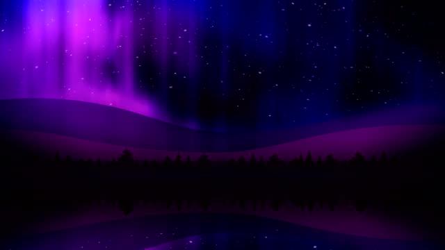 Aurora Lights at Night video