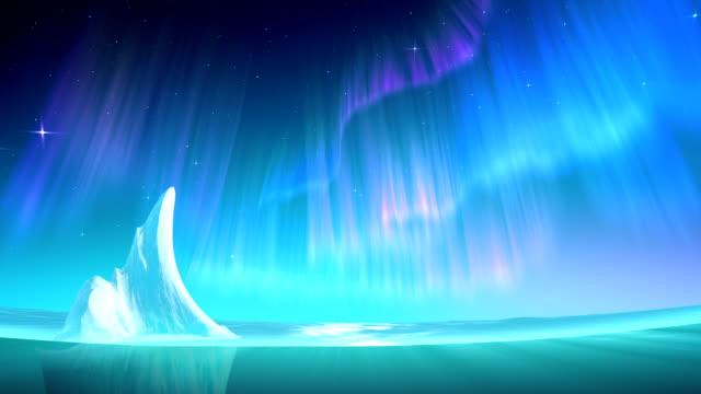 Aurora on sea loop video