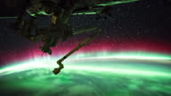 Aurora over the Earth seen from ISS video