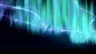 Aurora shine over the hills video