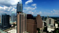 Austin Texas Aerial High Above Downtown Very Close to Center Frost Bank Tower in View video